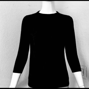 NWT TALBOTS 100% PURE CASHMERE SWEATER IN BLACK